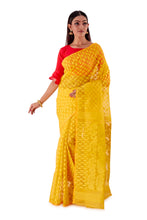 Yellow-Ochre-Traditional-Dhakai-Saree-SNJMB4003-1