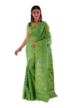 Moss-Green-Traditional-Dhakai-Saree-SNJMB4005-2