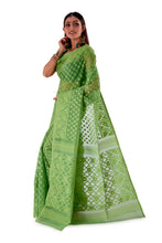 Moss-Green-Traditional-Dhakai-Saree-SNJMB4005-3