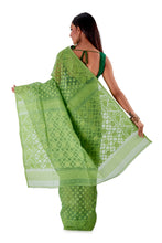 Moss-Green-Traditional-Dhakai-Saree-SNJMB4005-4