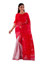 Red-and-White-Traditional-Dhakai-Saree-SNJMB4008-2