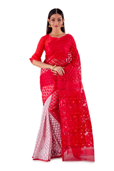 Red-and-White-Traditional-Dhakai-Saree-SNJMB4008-1