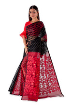 Red-and-Black-Traditional-Dhakai-Saree-SNJMB4009-3