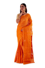 Pumpkin-Orange-Traditional-Dhakai-Saree-SNJMB4011-2