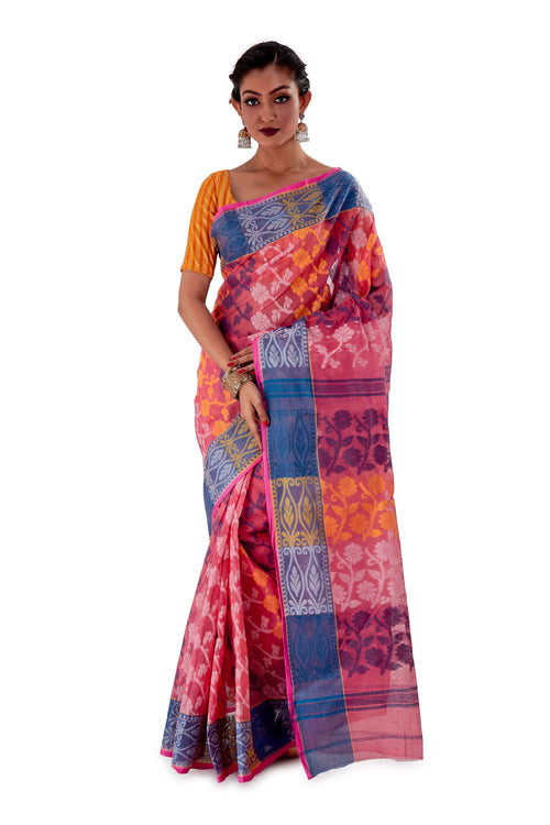 Pink-Traditional-Cotton-Dhakai-Jamdani-SNJMC1101-2