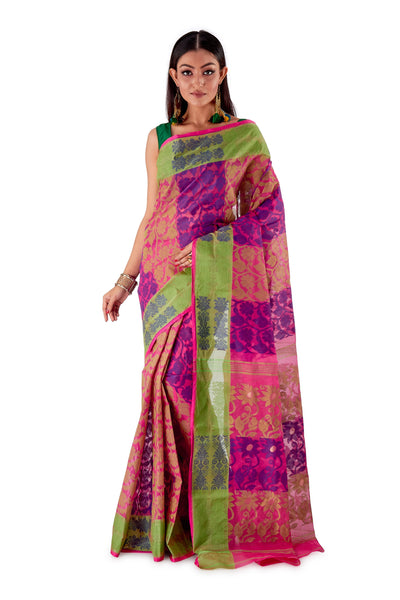 Purple-Traditional-Cotton-Dhakai-Jamdani-SNJMC1102-1