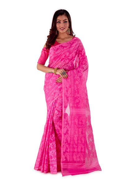 Pink-Traditional-Cotton-Dhakai-Jamdani-SNJMC1201-1