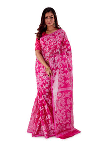 Pink-Traditional-Cotton-Dhakai-Jamdani-SNJMC1202-1