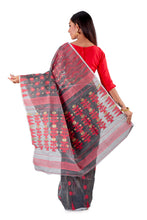 Blackish-Grey-Traditional-Cotton-Dhakai-Jamdani-SNJMC1204-4