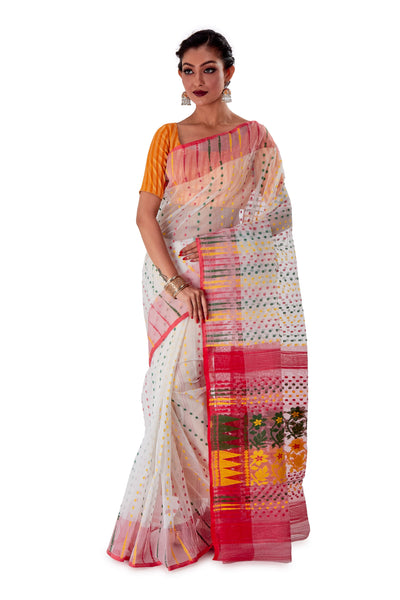 White-Traditional-Cotton-Dhakai-Jamdani-SNJMC1305-1