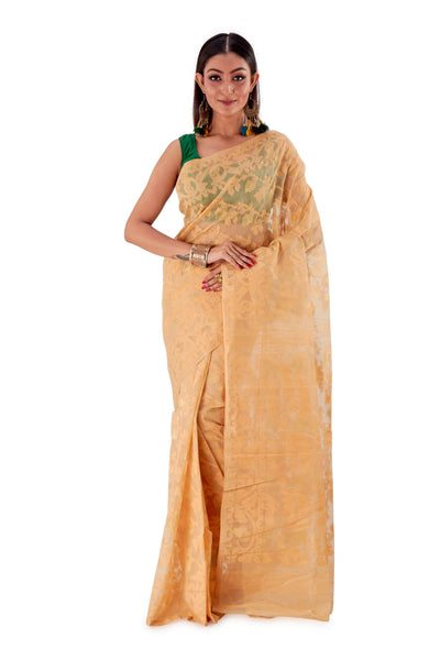 Beige-Traditional-Cotton-Dhakai-Jamdani-SNJMC1401-1