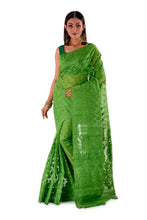 Parrot-Green-Traditional-Cotton-Dhakai-Jamdani-SNJMC1502-1