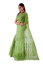 Green-Traditional-Cotton-Dhakai-Jamdani-SNJMC1503-3