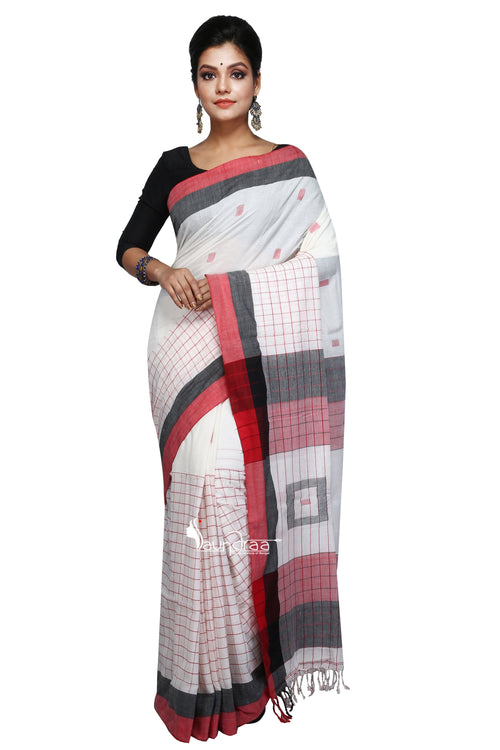 Handloom Box Cotton Khadi Saree