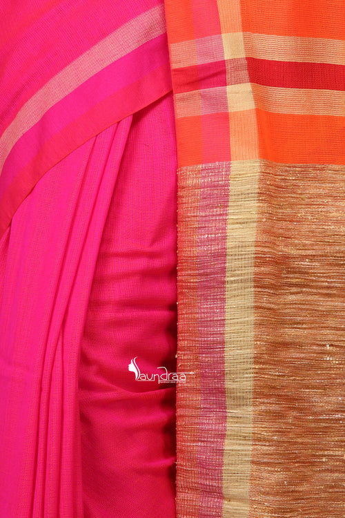 Handloom Cotton Moklin Saree - Saree