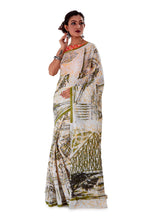 White-base-block-printed-mulmul-designer-saree-SNML1003-2
