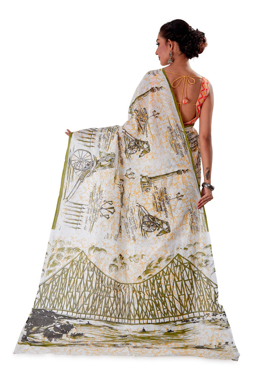 White-base-block-printed-mulmul-designer-saree-SNML1003-4