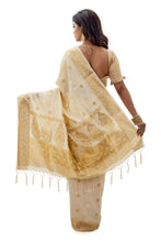 Off-white Designer Resham Saree