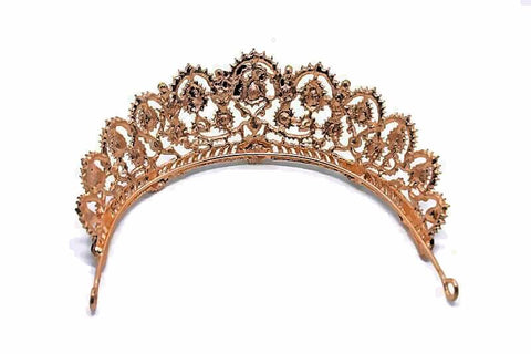 """Aimee"" Vintage Crystal Princess Crown"