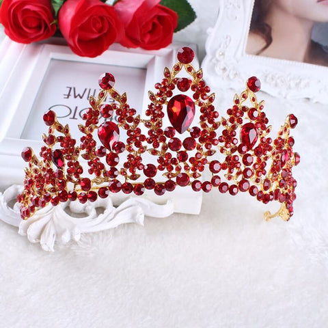 """Paris"" Vintage Red Jewel Birthday Tiara"