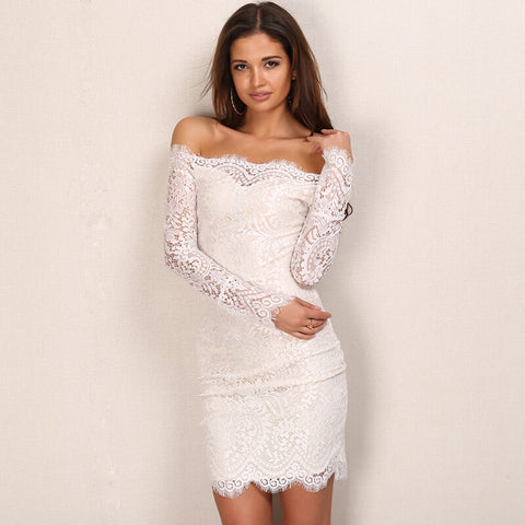 Vintage Lace Winter Party Dress