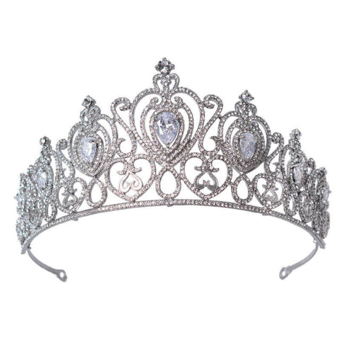 """Cara"" Crystal Premium Princess Crown"
