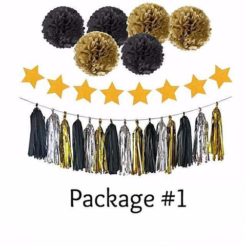 Black + Gold Limited Edition Birthday Party Supplies Kit-Supplies-HappyBirthdayGirl
