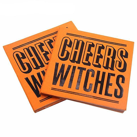Cheers Witches Halloween Party Printed Napkins-Napkins-HappyBirthdayGirl