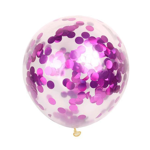 Clear Confetti Birthday Party Balloons-balloons-HappyBirthdayGirl