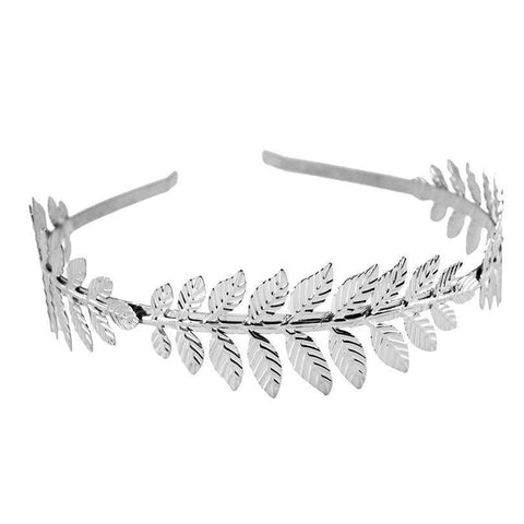 Fashion Gold + Silver Metallic Metal Leaf Headband-HappyBirthdayGirl