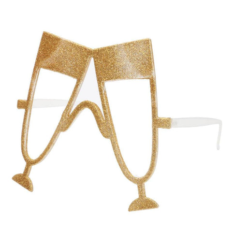 Gold Champagne Flute Drinking Glasses-Novelty Glasses-HappyBirthdayGirl