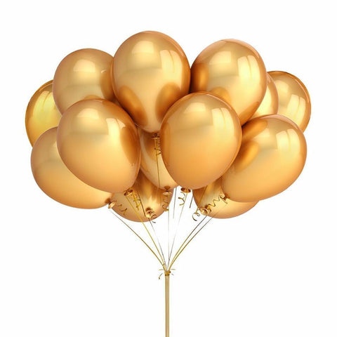 Gold Inflatable Latex Helium Balloons-balloons-HappyBirthdayGirl