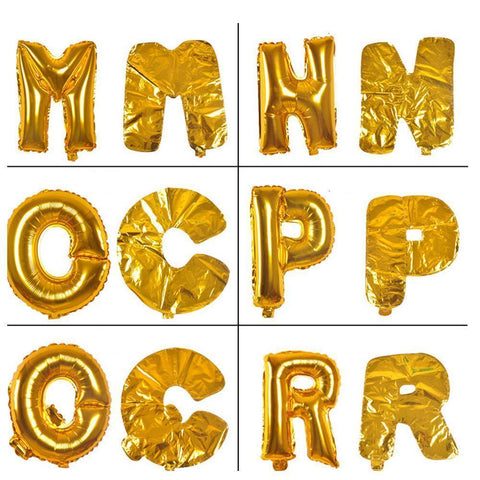 Gold Letter Large Birthday Party Balloons-BALLOONS-HappyBirthdayGirl