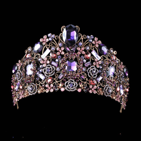 """Heidi"" Luxe Purple Crystal Birthday Tiara-Tiara-HappyBirthdayGirl"