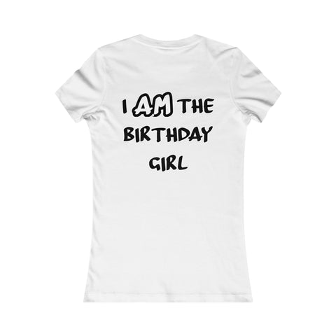 I AM the Birthday Girl Shirt, the Bow Version-T-Shirt-HappyBirthdayGirl