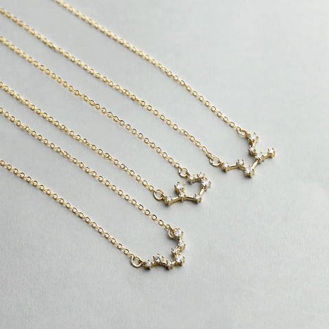 Zodiac Signs Necklace With Constellation Pendant