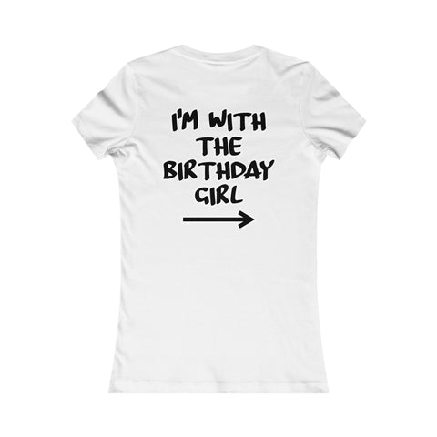 I'm With the Birthday Girl Tee, the Cupcake Version-T-Shirt-HappyBirthdayGirl