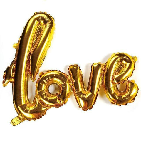 "Multicolored 40 Inch ""Love"" Balloons- 40 Inches-Balloons-HappyBirthdayGirl"