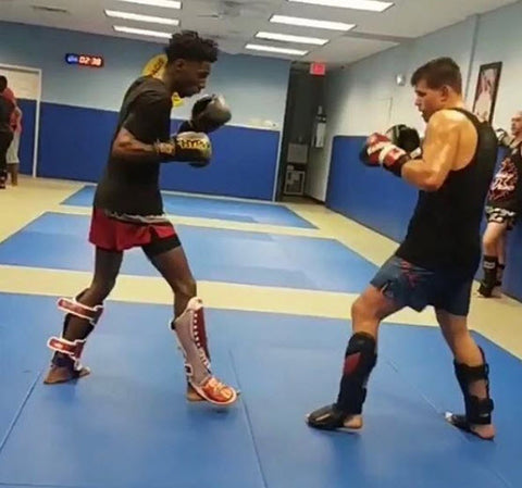 Alex Baker and Mickey Gall Sparring