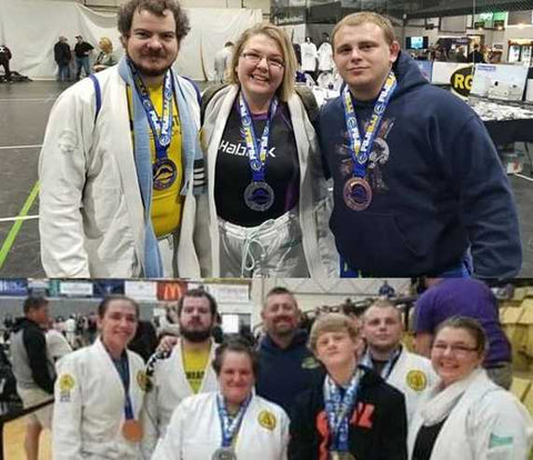 BJJ group at a tournament