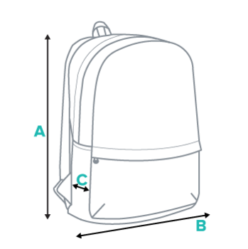 Backpack Size Chart (Diagram)