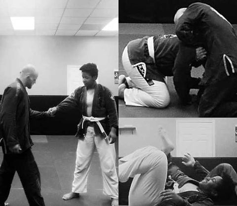 Austin Haedicke coaching and teaching BJJ practitioners