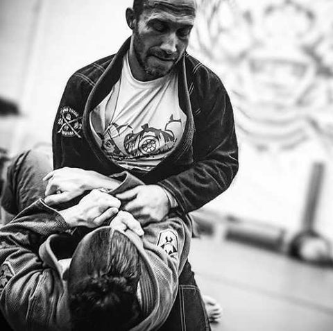 Eric Training BJJ with his friend