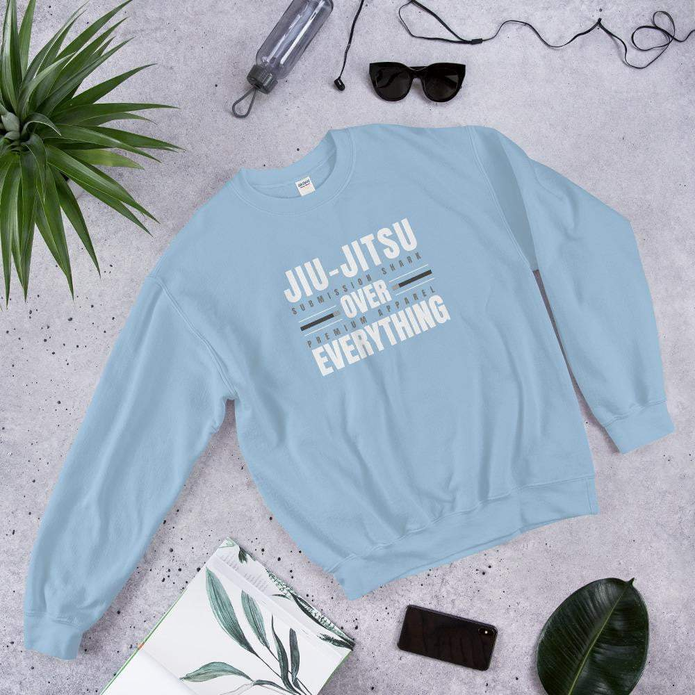 Jiu-Jitsu Over Everything Blue BJJ Sweatshirt