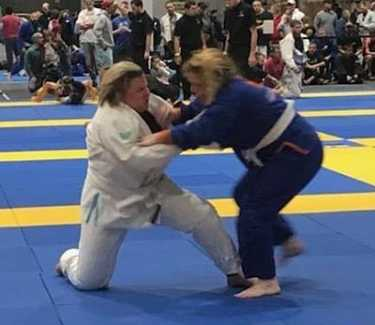 BJJ competition with someone bigger