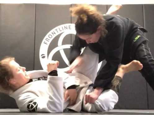 Iman Jiu Jitsu training with her friend