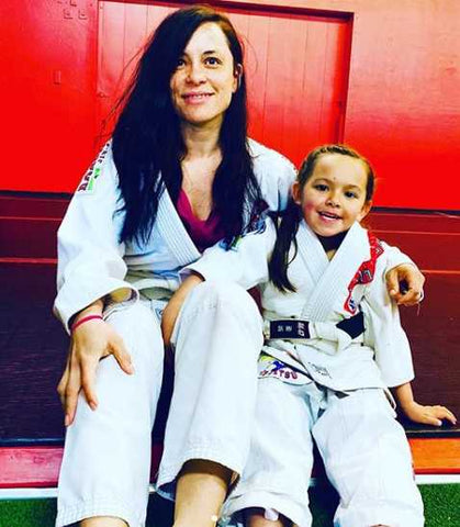 Jiu-jitsu Girls Mom and Daughter