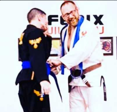 Melissa Getting Her Blue Belt in BJJ