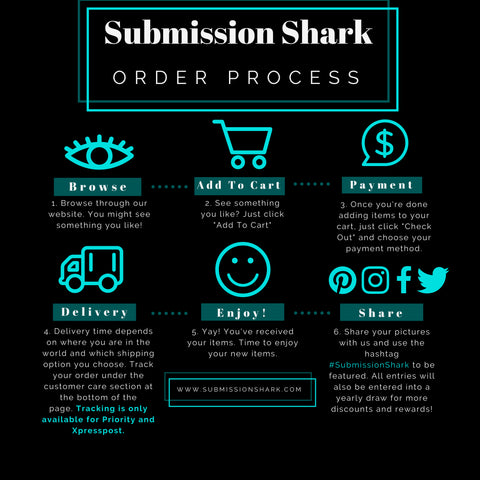 Submission Shark Order Process and Shipping Information