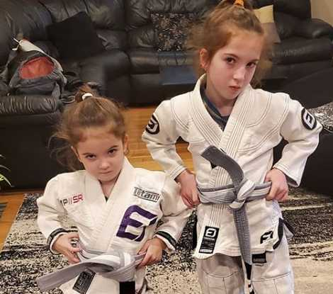 Raina and Her Sister in white BJJ Gi